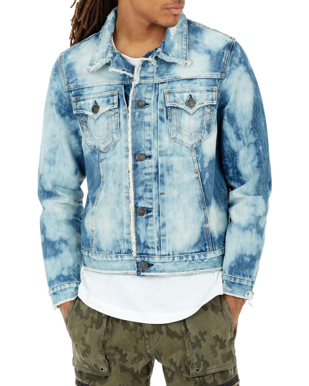 True Religion Dylan Bleached Denim Jacket | Neiman Marcus