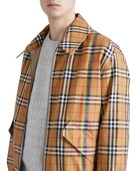 Burberry Harrington Reversible Zip-Front Coat