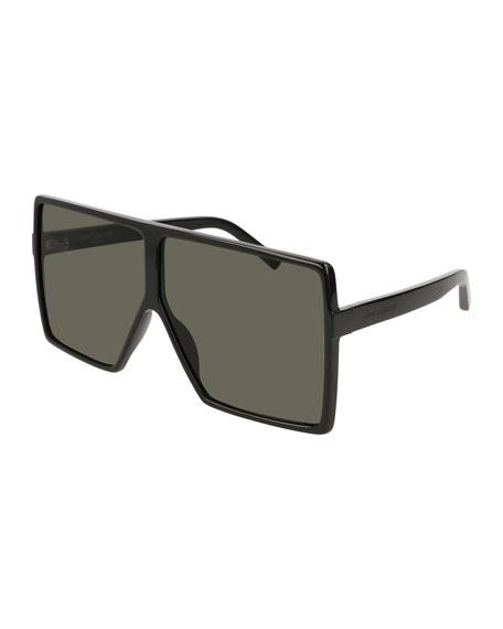 Saint Laurent SL 183 Betty Acetate Shield Sunglasses