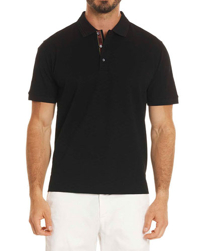 Edwin Tonal-Pattern Polo Shirt