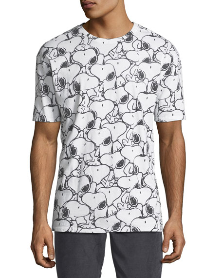 Eleven Paris Men's Seanum Peanuts Snoopy Graphic T-Shirt