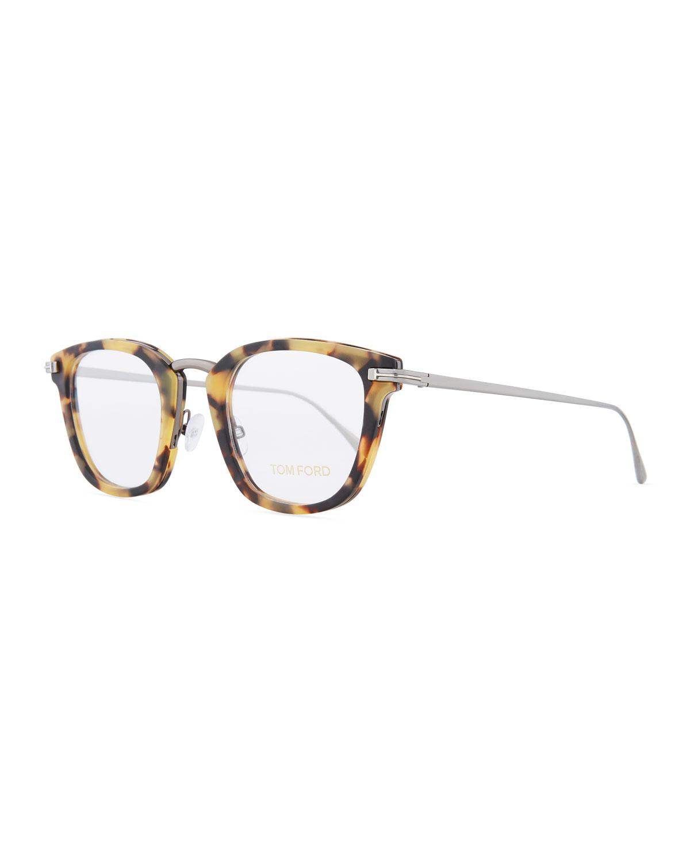 90b169ca23 TOM FORD Square Acetate   Metal Glasses