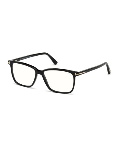 Square Acetate Optical Glasses  Black
