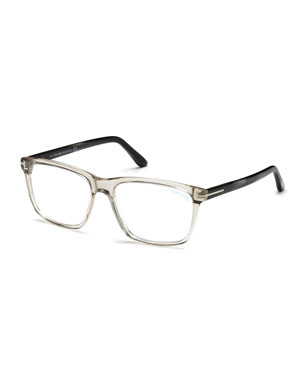 47e09245bc TOM FORD Square Acetate Optical Glasses