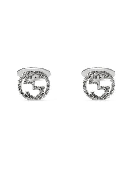 Gucci Sterling Silver Interlocking-G Cuff Links