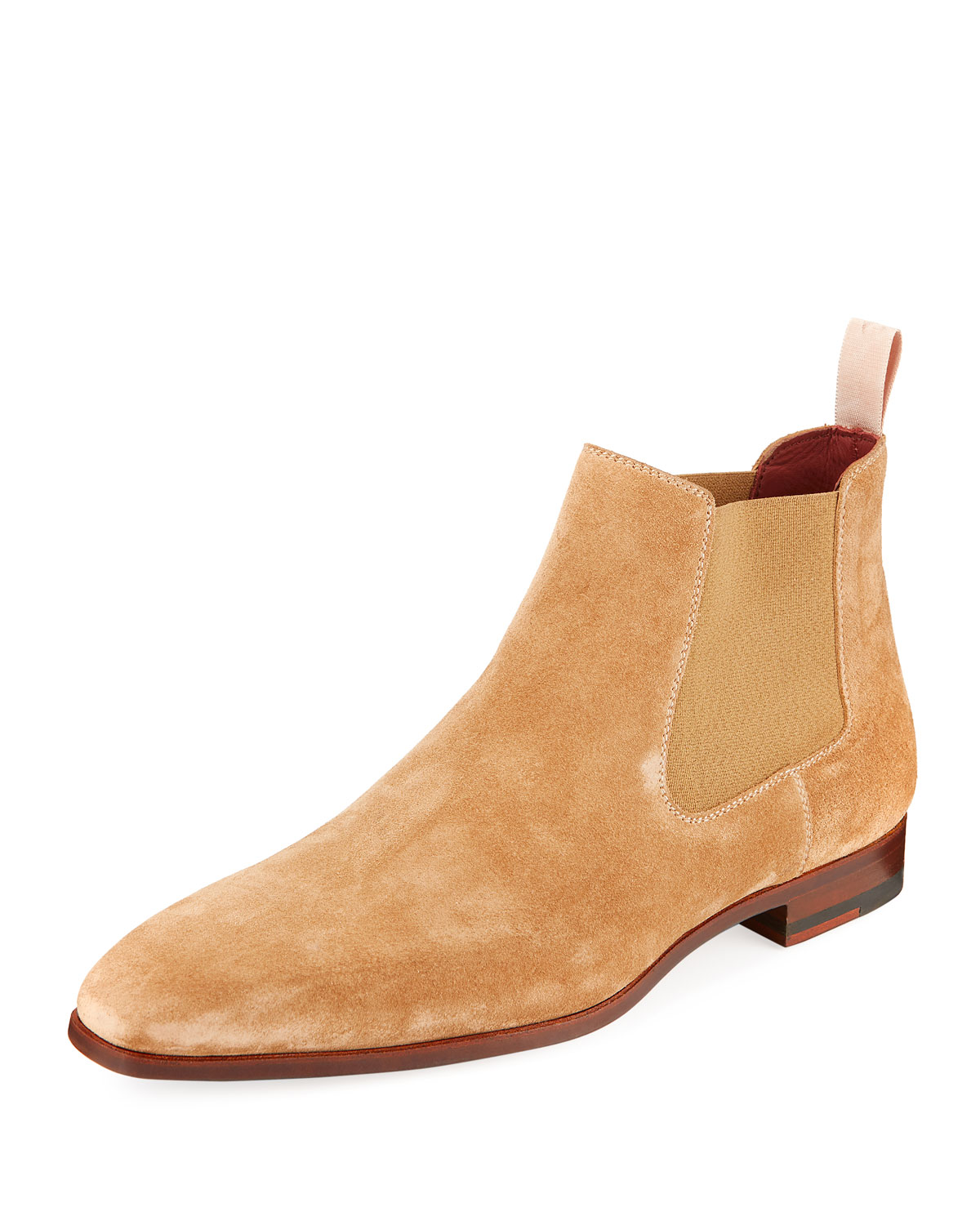 Suede Low Gored Chelsea Boots