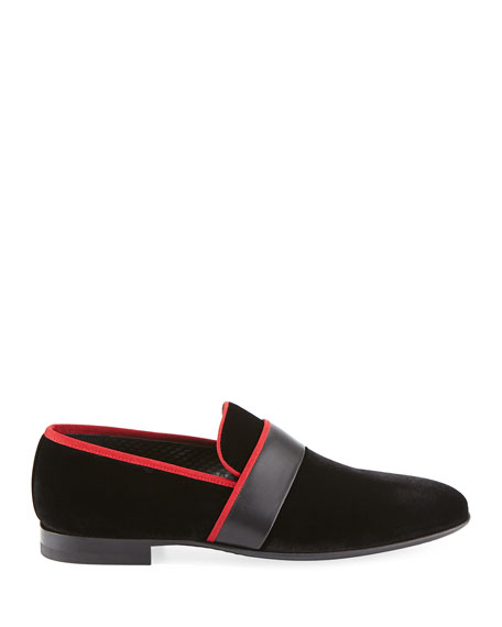 Men's Velvet Formal Slipper