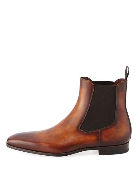 Men's Calfskin Leather Chelsea Boot
