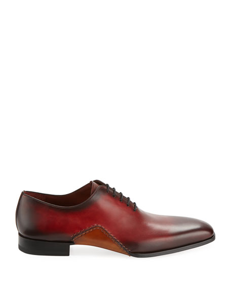 Men's Two-Tone Lace-Up Sole-Stitch Dress Shoe