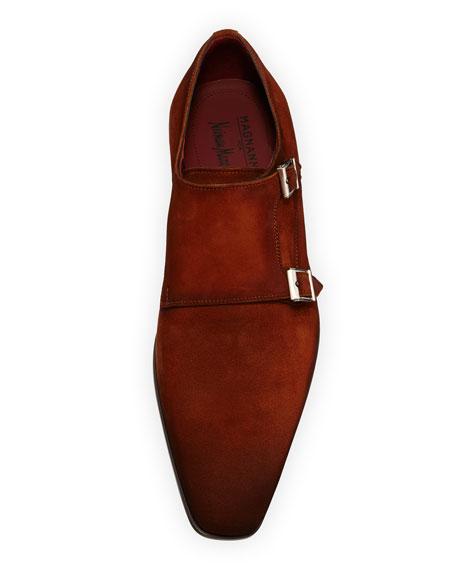 Men's Suede Double-Monk Shoe