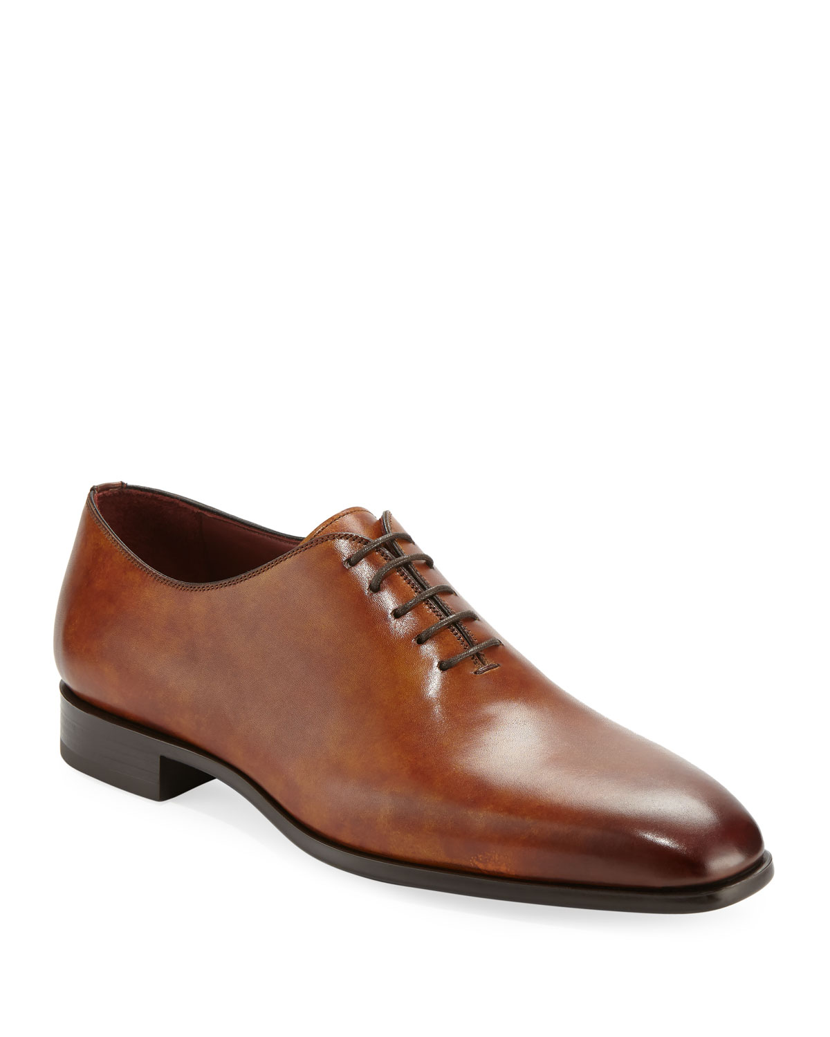Magnanni For Neiman Marcus Mens One Piece Leather Lace Up Dress