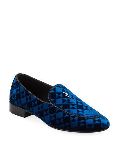 Suit Patterned Velvet Loafer