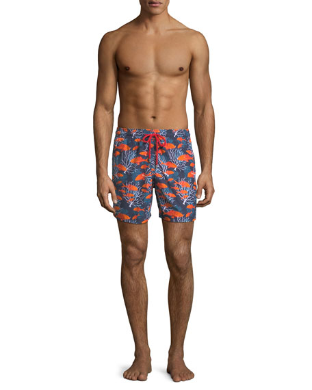 Moorea Coral Fish Swim Trunks