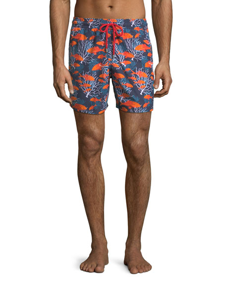 Vilebrequin Moorea Coral Fish Swim Trunks