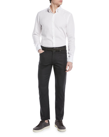 Wool-Stretch 5-Pocket Pants
