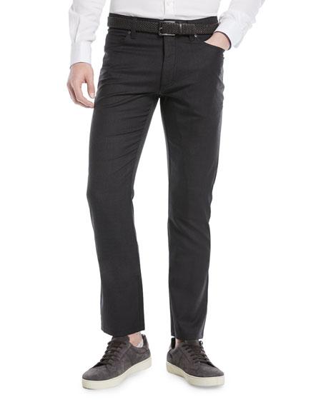Ermenegildo Zegna Wool-Stretch 5-Pocket Pants
