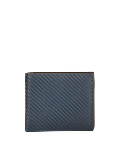 Chassis Leather Billfold Wallet  Navy