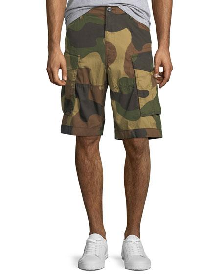 Men's Aged Camo Cargo Shorts