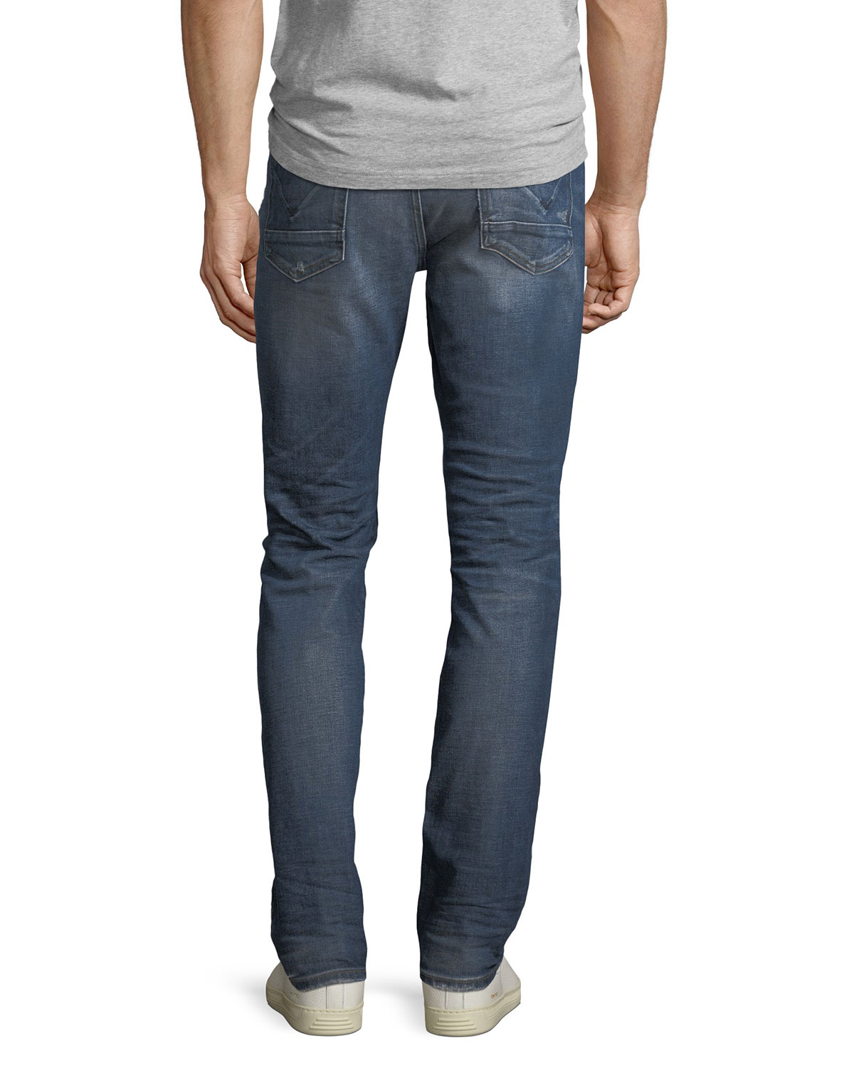 real quality shopping men/man Men's Sartor Slouchy Distressed Skinny Jeans, All City Blue