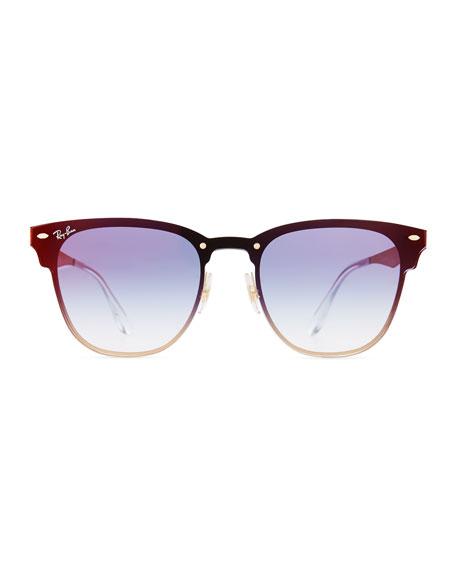 Clubmaster Mirrored Half-Rim Sunglasses