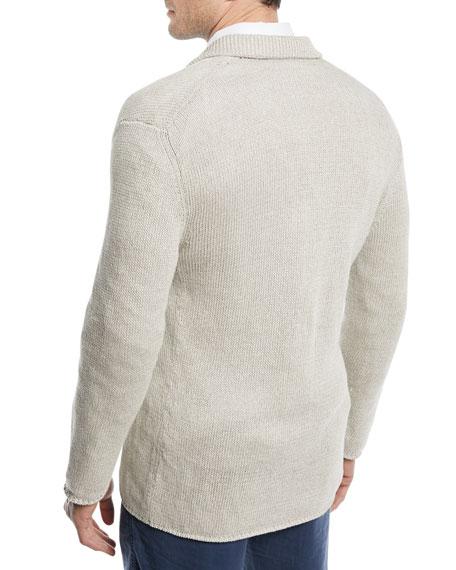 Soft Linen-Blend Jacket