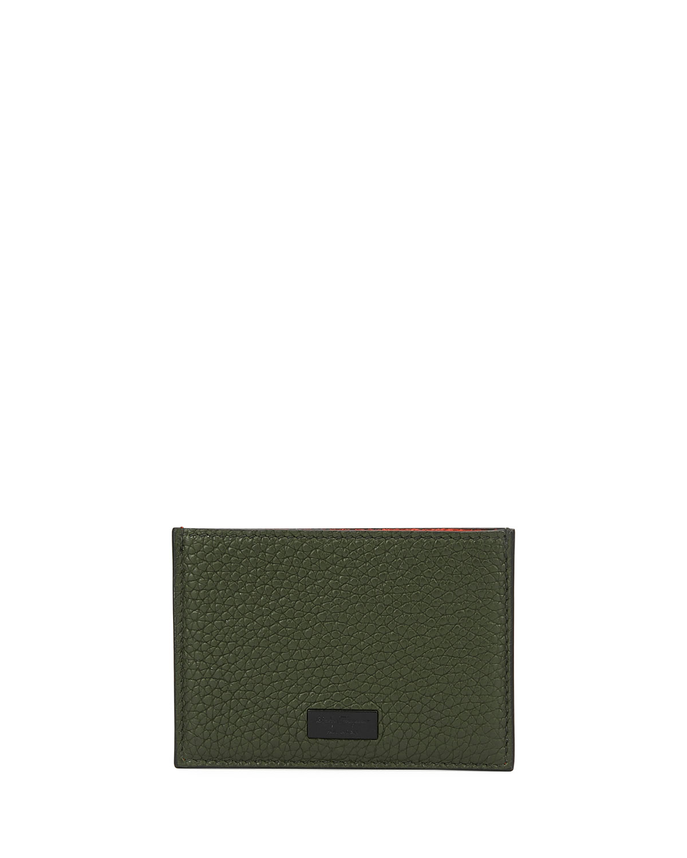 Salvatore Ferragamo Men s Firenze Flat Colorblock Leather Card Case ... 65088bb1f4