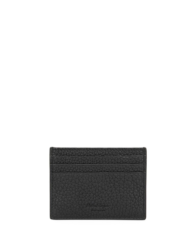 Salvatore Ferragamo Men s Firenze Gamma Leather Flat Card Case ... 127a86f2b9