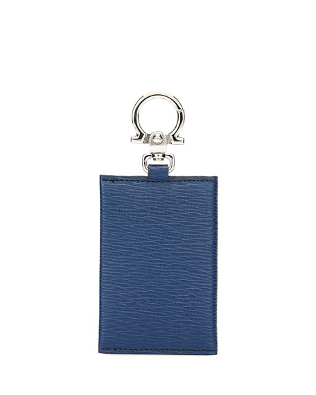Salvatore Ferragamo Men's Revival Leather Card Case w/ Metal Clip