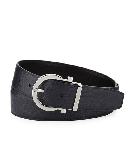 Men's Gancio Buckle Leather Belt