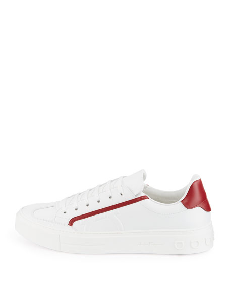 Men's Borg Leather Low-Top Sneakers
