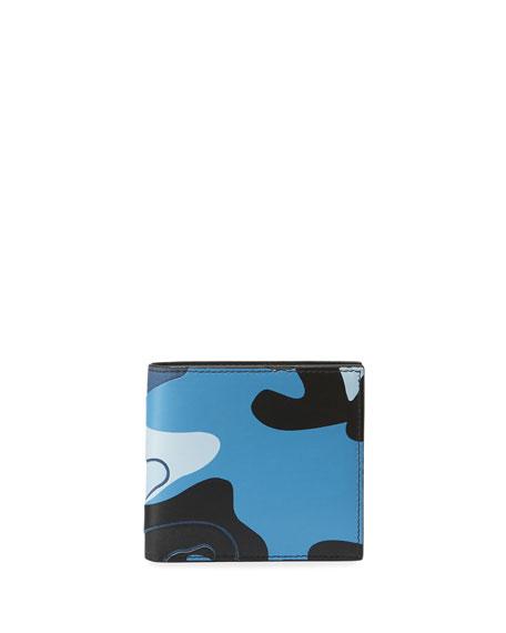 Valentino Garavani Men's Camo-Print Leather Bifold Wallet