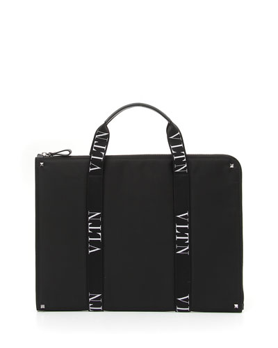 Men's VLTN Logo-Strap Document Case