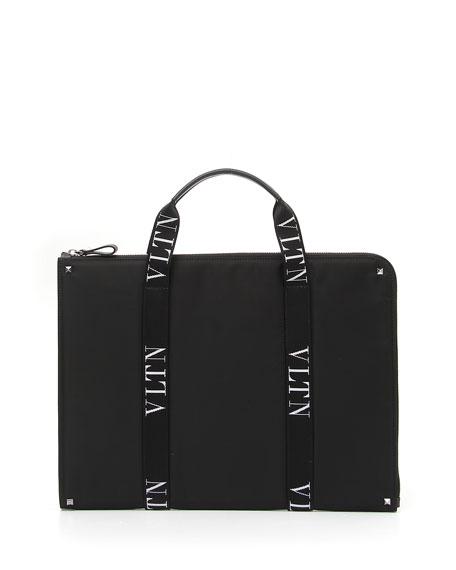 Men's VLTN Logo-Strap Document Case