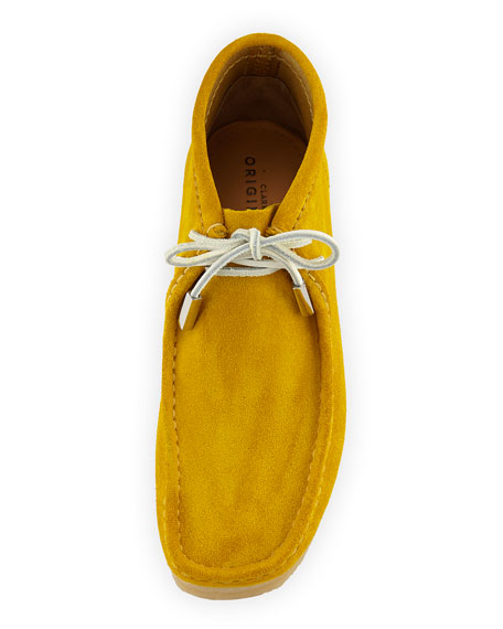 Men's Suede Wallabee/Moc Chukka Boot, Speed Yellow