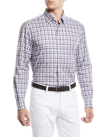 Ermenegildo Zegna Men's Large-Check Sport Shirt