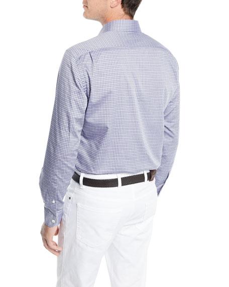 Ermenegildo Zegna Check Long-Sleeve Sport Shirt