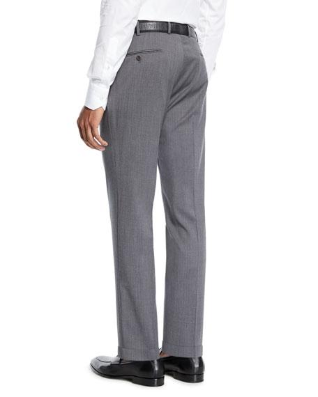 Incotex Men's Sergio Wool Dress Pants