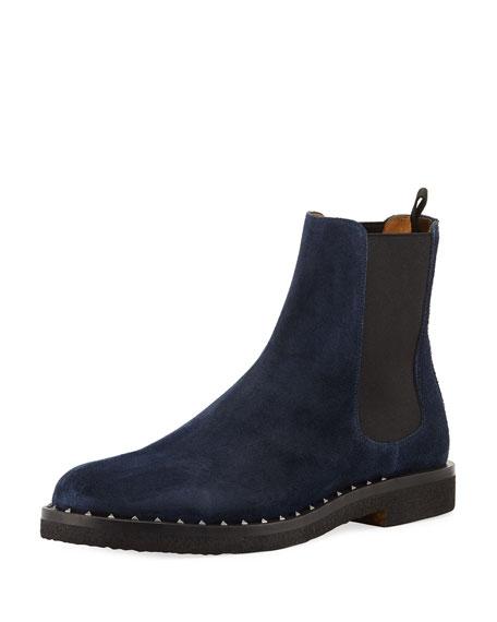 Men's Soul Rockstud Suede Chelsea Boots