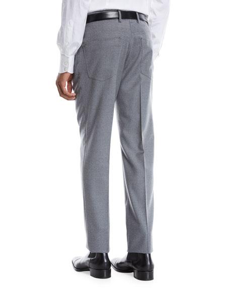 Incotex Men's Moss Five-Pocket Flannel Dress Pants