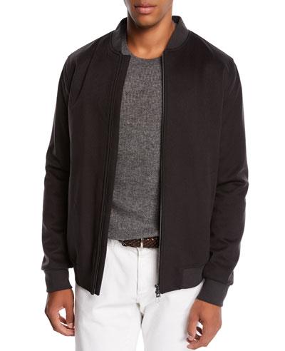 Men's Ivy Cashmere Bomber Jacket