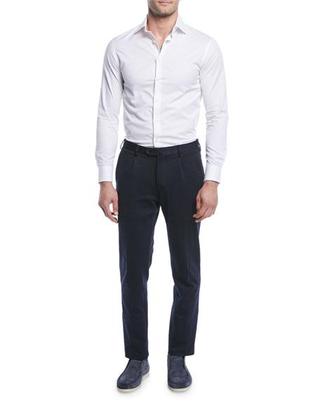 Loro Piana Men's Pleated Jersey Pants