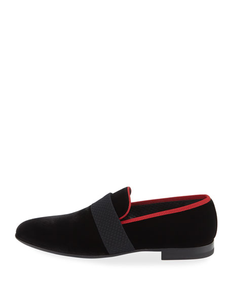 Men's Velvet Formal Loafer Slipper