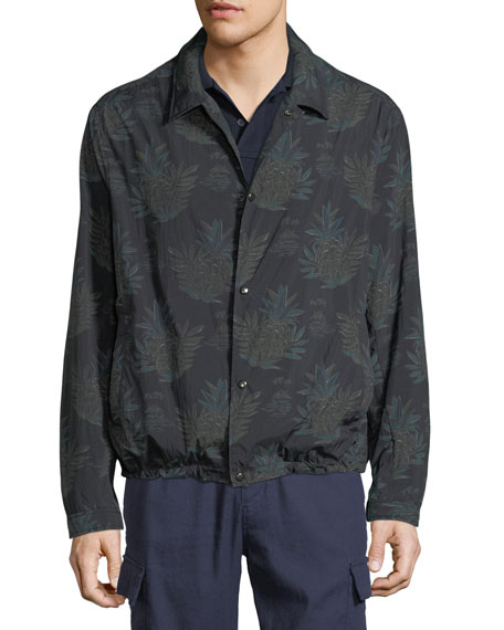 Men's Coaches Tropical-Print Nylon Jacket