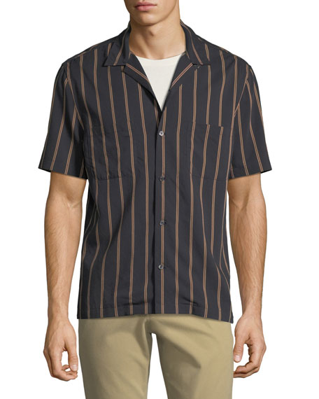 Men's Vintage Striped Cabana Shirt