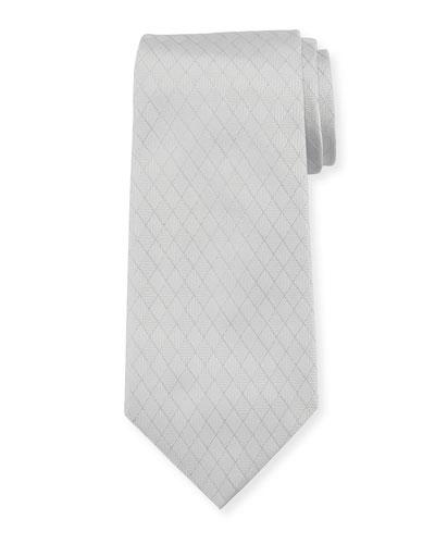 Alternating Diamond Silk Tie