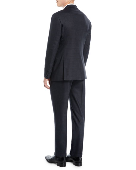 Image 3 of 4: Men's Melange Two-Piece Wool-Stretch Suit