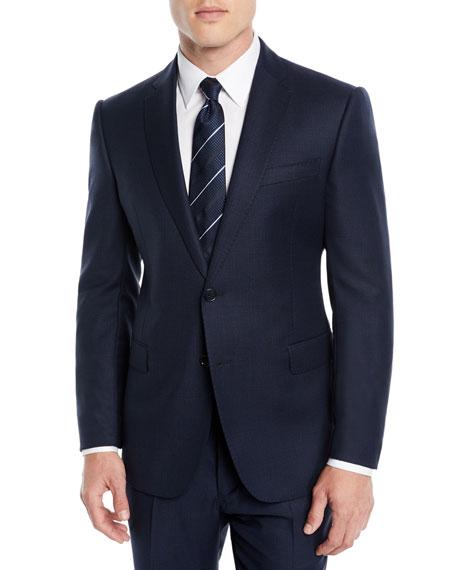 Men's Birdseye Two-Piece Wool Suit
