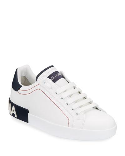 Men's Portofino Two-Tone Leather Sneakers