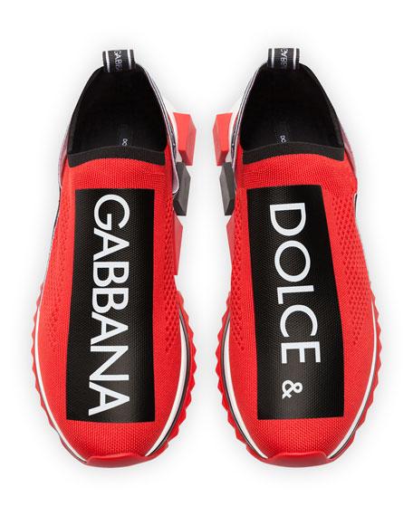 Men's Sorrento Logo-Stripe Sock Sneakers