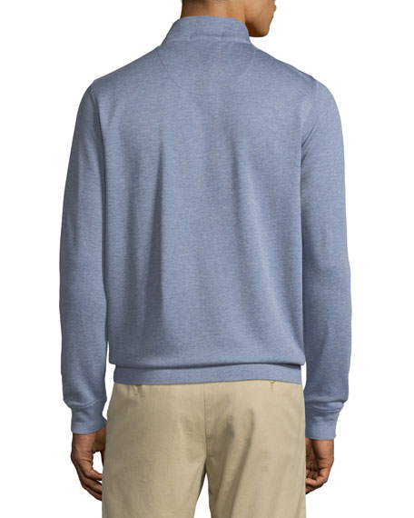 Crown Comfort Men's Interlock Half-Zip Sweater